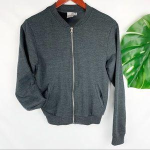 ASOS Crewneck Zip Front Pockets Sweatshirt Size 4